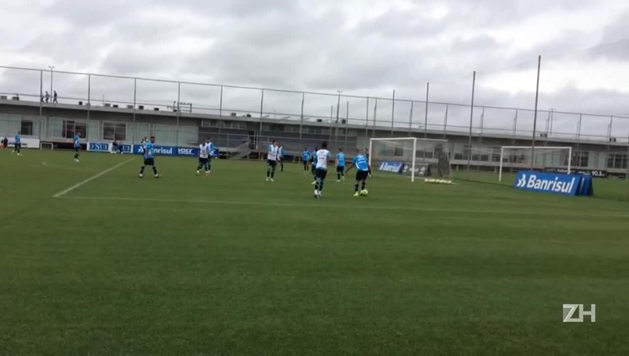 Grêmio treina antes de viagem a Belo Horizonte