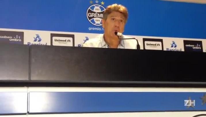"""Renato sobre Arthur: \""""Dificilmente vai conseguir jogar os 90 minutos\"""""""