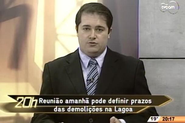 TVCOM 20 Horas - Reunião pode definir prazos das demoliçoes na Lagoa - 2º Bloco - 12/08/14