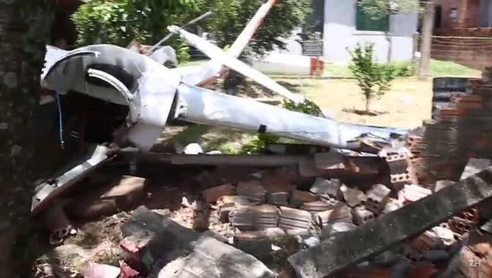 Planador cai em pátio de casa de Osório e deixa dois feridos