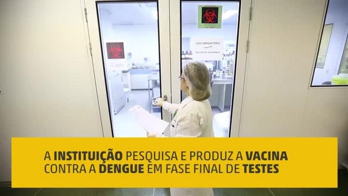 Como a vacina contra a dengue é desenvolvida pelo Instituto Butantan?