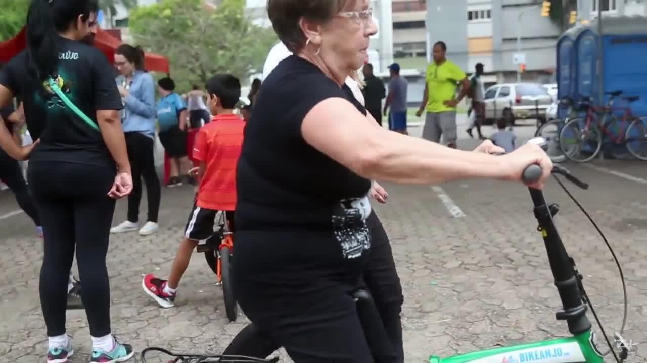 Veja como foi a ação que presenteou Porto Alegre com novos ciclistas