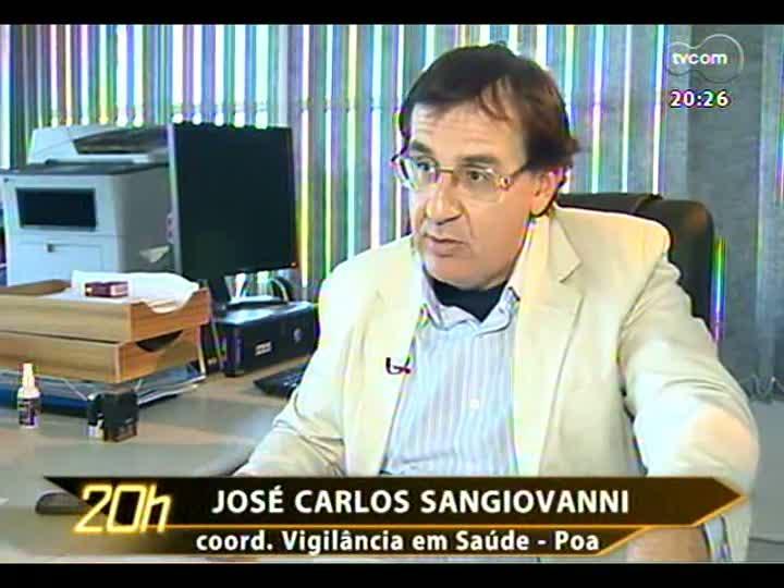 TVCOM 20 Horas - Primeiro caso de Gripe A na Capital - Bloco 3 -15/04/2013