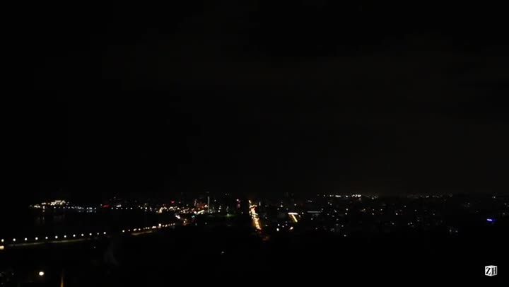 Registro de raios e trovoadas sobre Porto Alegre