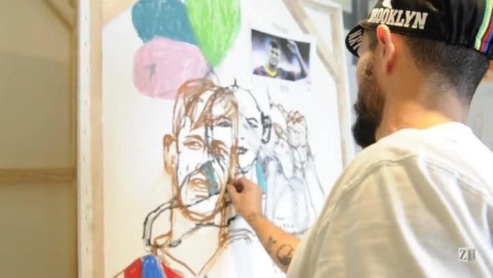 Crianças pintam os seus sonhos