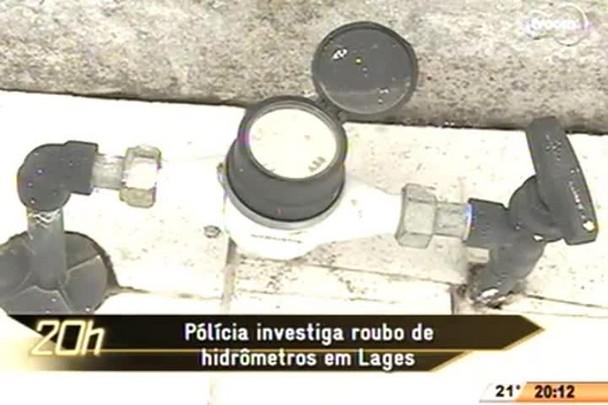 TVCOM 20 Horas - Polícia investiga roubo de hidrômetros em Lages - 25.05.15