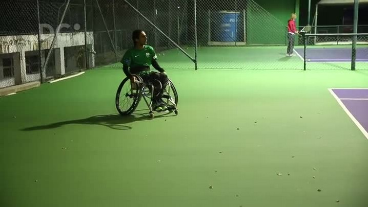 Ymanitu Silva, o tenista paralímpico catarinense
