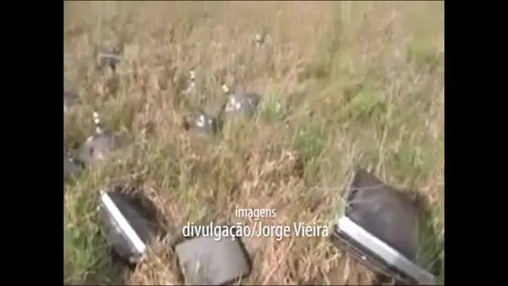 Denúncia em vídeo feito por leitor mostra possível lixo tóxico na Pinheira