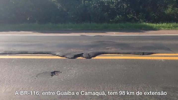 Estradas abandonadas: Buracos, desníveis e falta de sinalização estão entre os problemas da BR-116