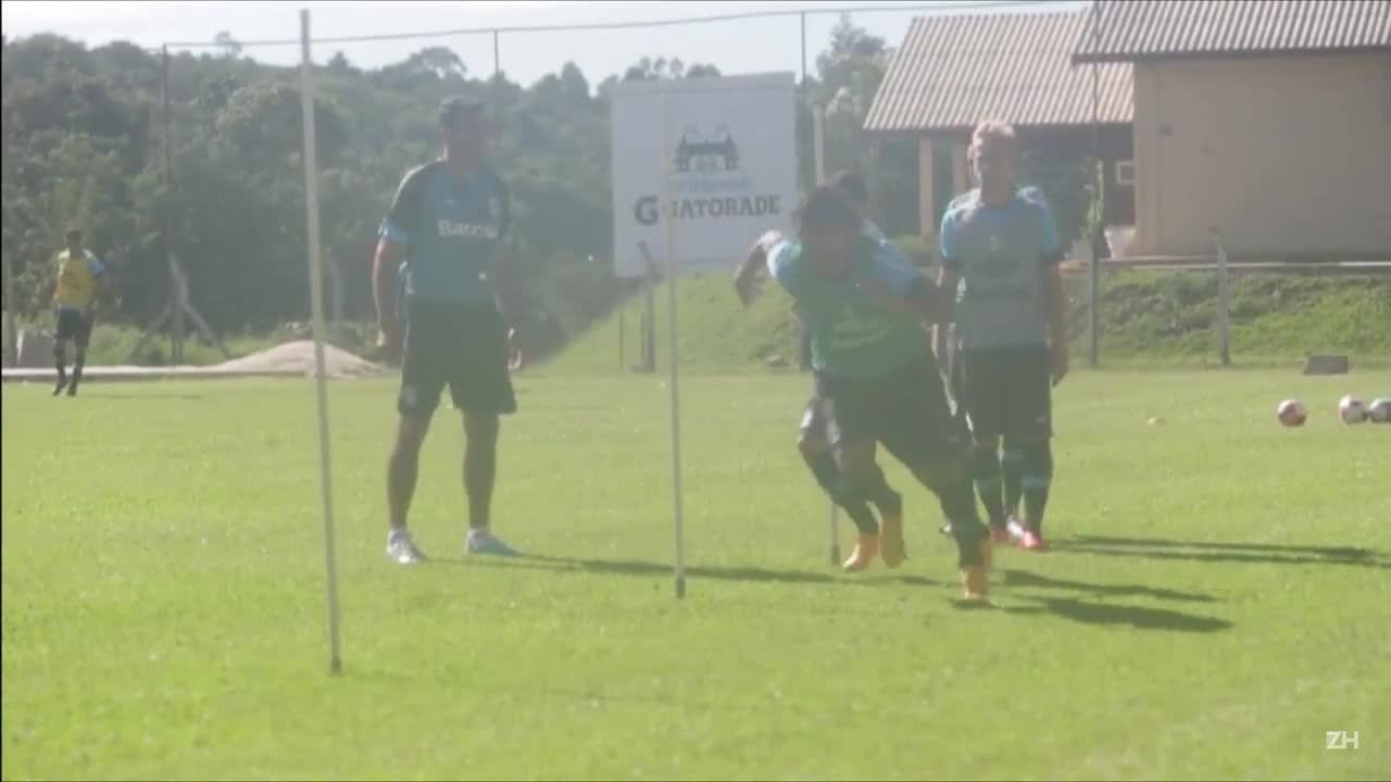 Treinamento do Grêmio em Gramado