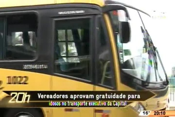 TVCOM 20 Horas - Vereadores aprovam gratuidade para idosos no transporte executivo da Capital - 16.06.15