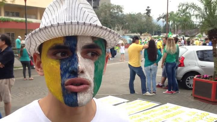 Protesto contra o governo em Jaraguá do Sul
