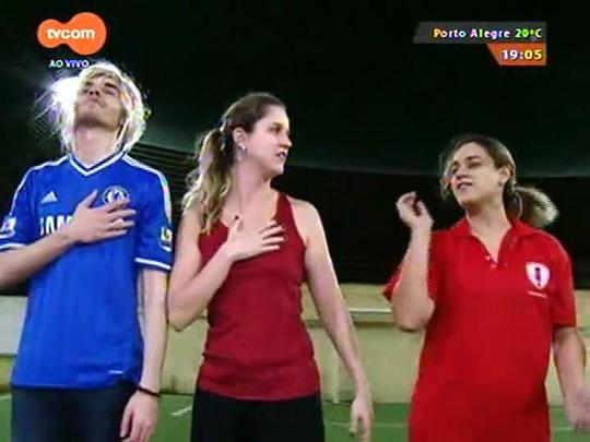 Super TVCOM Esportes - Jornal Corneta promove uma partida de futebol pra lá de equilibrada