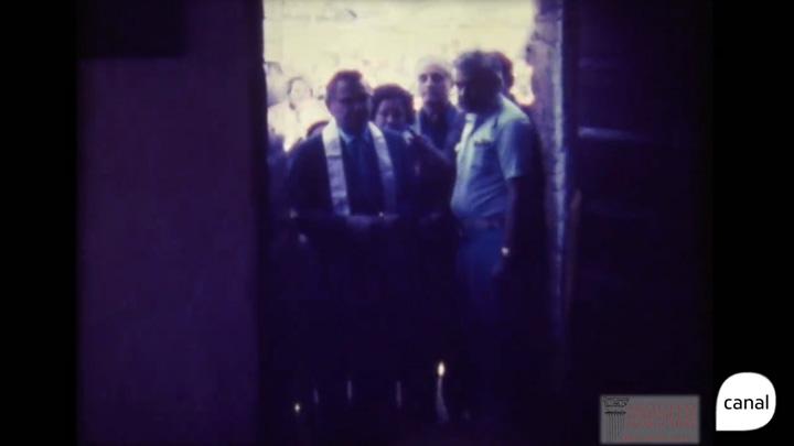 Memória: inauguração da Casa de Pedra, em 14 de fevereiro de 1975