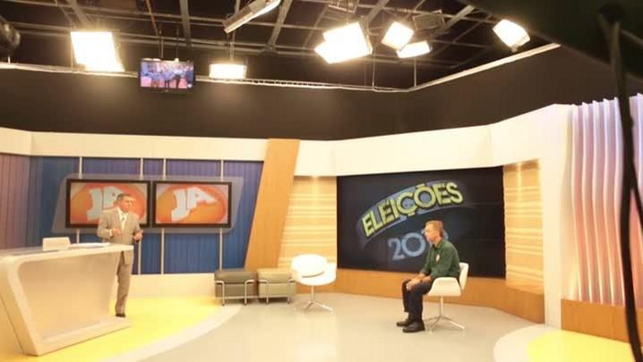 Confira os bastidores das entrevistas de Gean Loureiro e Angela Amin na RBS