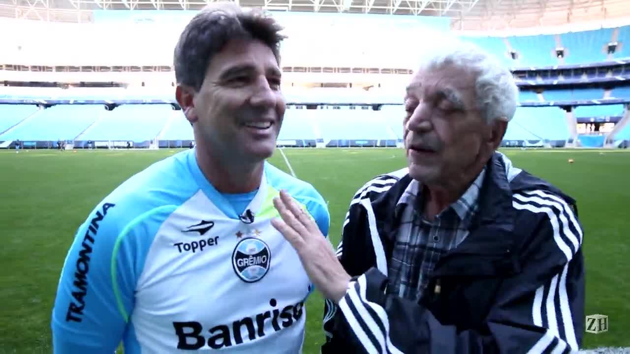 Sant\'Ana vai à Arena e pede a Renato que escale Zé Roberto e Elano