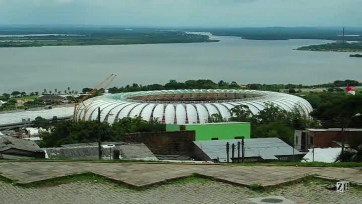 Última membrana da cobertura do Beira-Rio é aberta