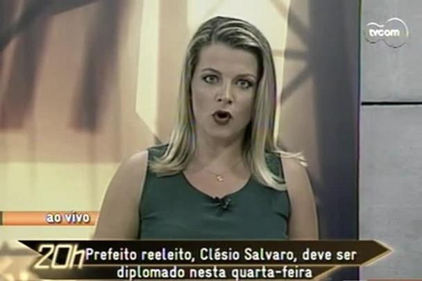 TVCOM 20h - Prefeito reeleito de Criciúma, Clésio Salvaro, impedido de tomar posse em 2013, deve ser diplomado nesta quarta-feira - 13.1.15