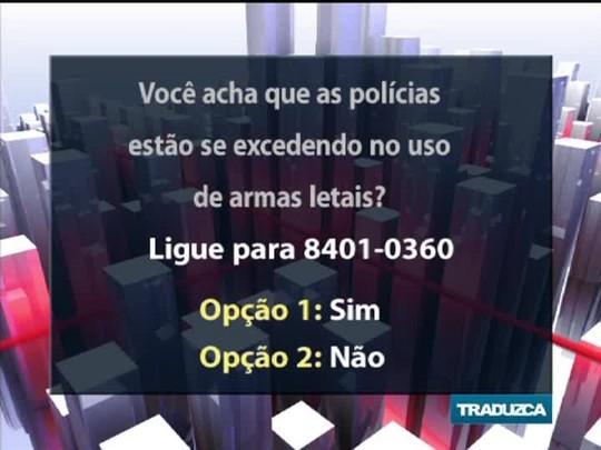 Conversas Cruzadas - Debate sobre a lei que disciplina o uso de armas letais pelas forças policiais - Bloco 2 - 28/01/15