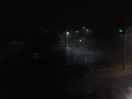 Tempestade com raios assusta moradores de Joinville