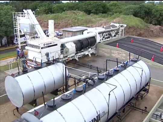 TVCOM 20 Horas - Nova usina de asfalto entra em operação na capital - 13/03/15