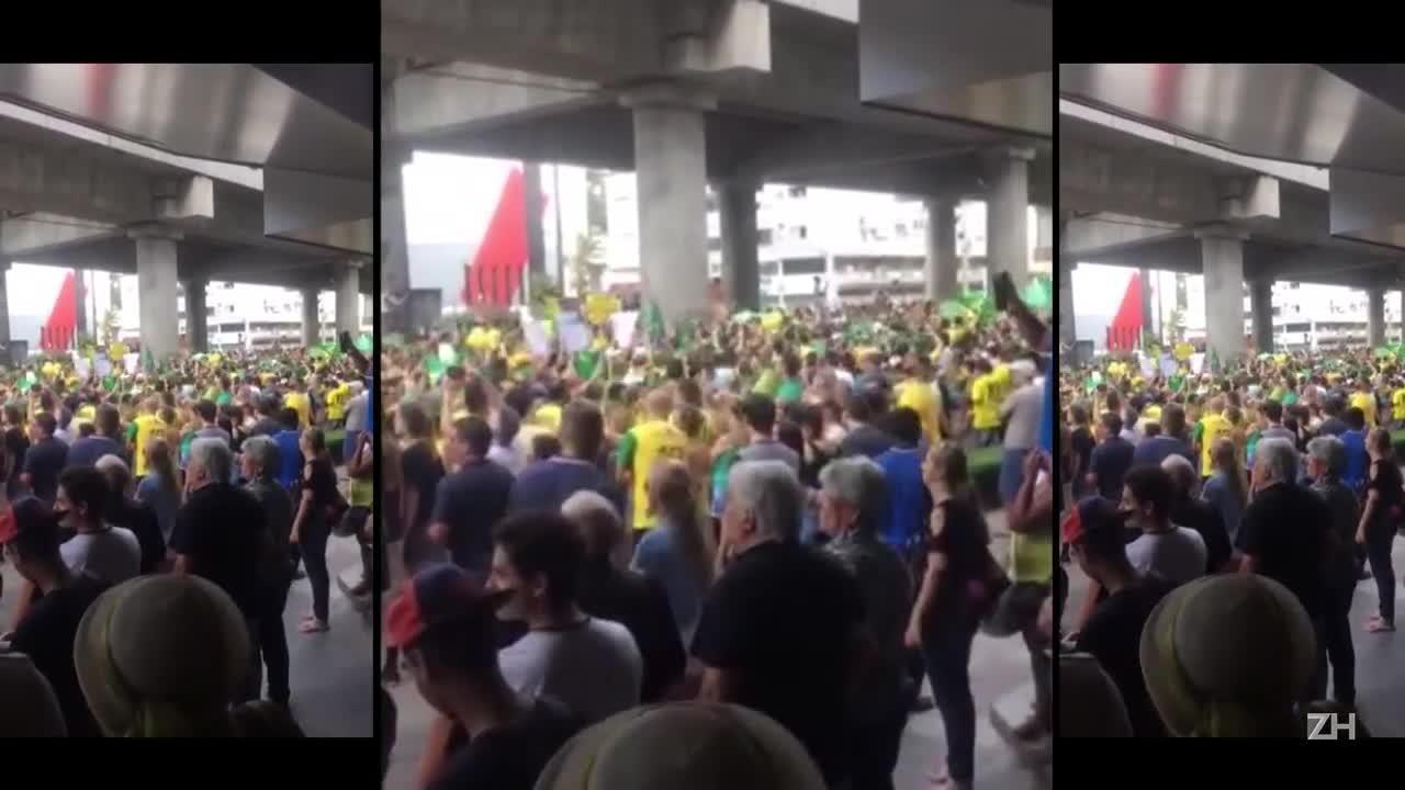 Manifestação em Novo Hamburgo