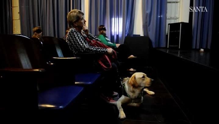 Fundação Cultural de Blumenau oferece sessões de cinema para cegos