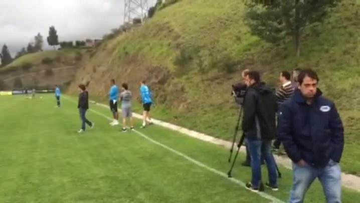 José Alberto Andrade mostra o treino do Grêmio em Quito