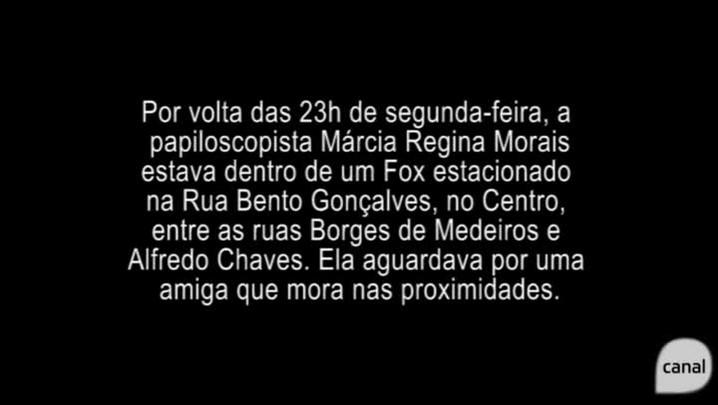 Imagens mostram como perita do IGP foi sequestrada em Caxias do Sul