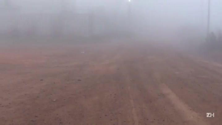 Os dias de neblina em Porto Alegre