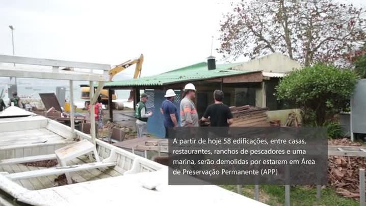 Demolições de estruturas irregulares nos Ingleses