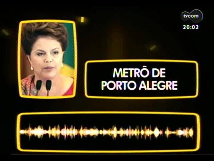 TVCOM 20 Horas - Resumo e análise da entrevista da presidente Dilma em Porto Alegre - Bloco 1 - 16/09/2013