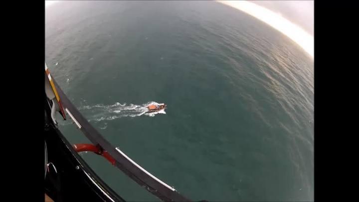 14 pessoas foram resgatadas após naufrágio em Palhoça
