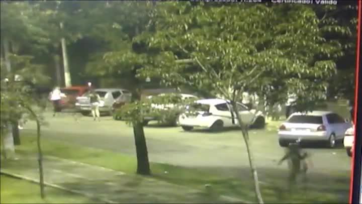 Câmera da PM flagra cena de tiros em balada de Chapecó