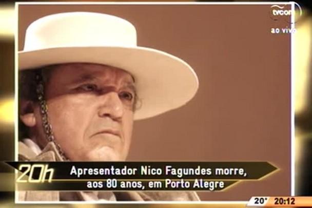 TVCOM 20 Horas - Apresentador Nico Fagundes morre, aos 80 anos, em Porto Alegre - 25.06.15