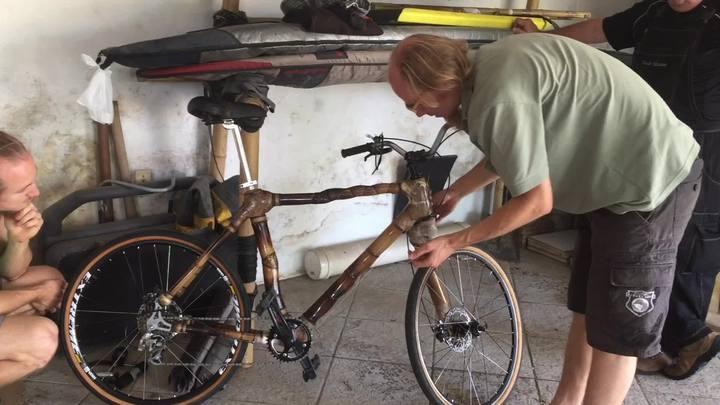 Você já viu uma bicicleta de bambu?