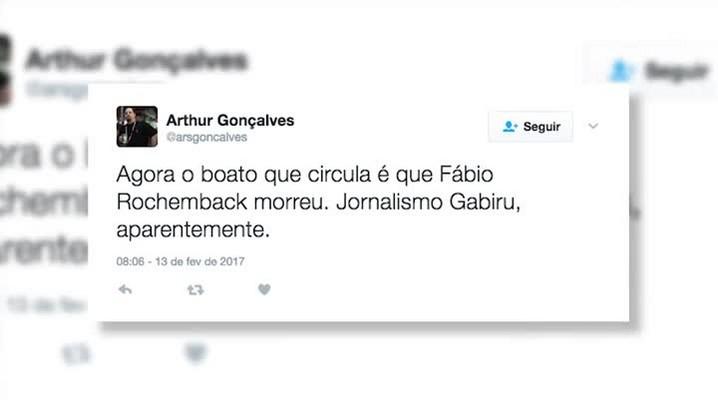 ZH Esclarece: Fábio Rochemback está vivo