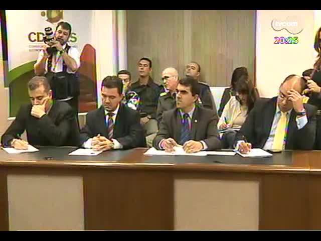 TVCOM 20 Horas - Detalhes sobre a reunião que discutiu a violência e a participação da BM nos estádios de futebol - Bloco 3 - 16/09/2013