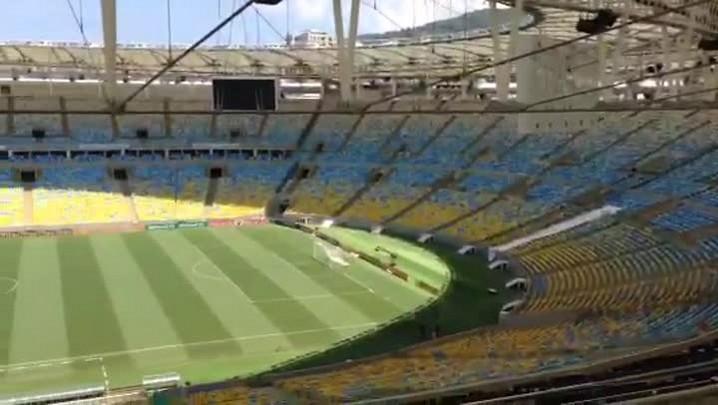 Maracanã instantes antes da partida decisiva do Criciúma