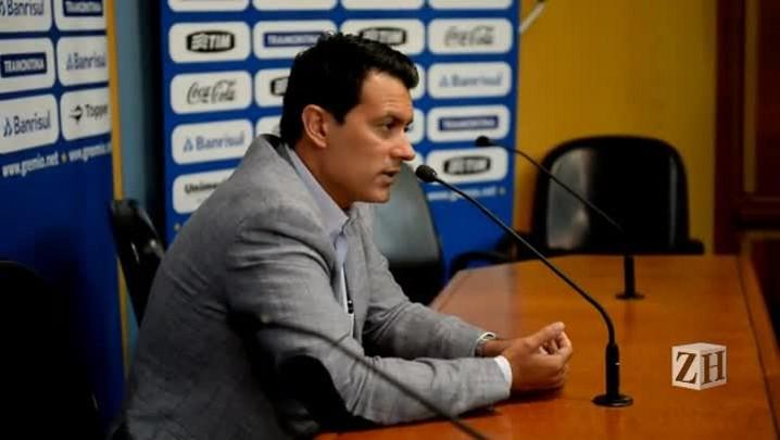 Na apresentação oficial do Grêmio, Rui Costa fala sobre a situação financeira do clube