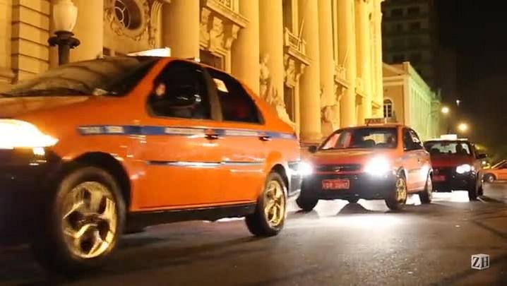 Taxistas protestam por mais segurança em Porto Alegre