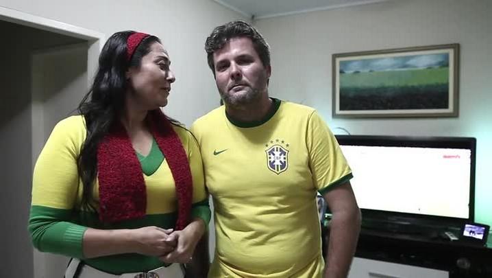 Chilenos e brasileiros se reúnem para acompanhar jogo das oitavas de final em Joinville