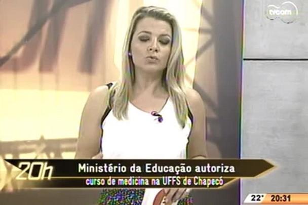 TVCOM 20 Horas - Ministério da Educação autoriza curso de medicina na UFFS de Chapecó - 20.05.15