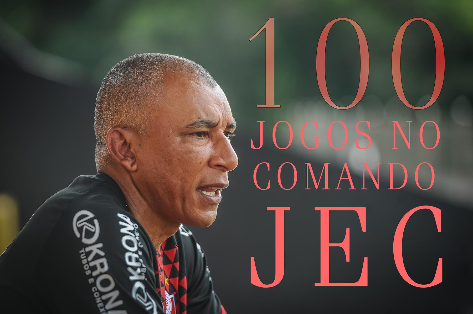 Hemerson Maria fala sobre os 100 jogos no comando do JEC
