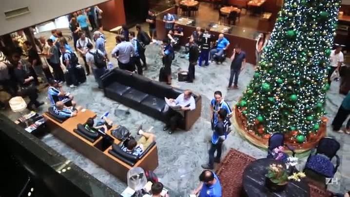 Luis Henrique Benfica: A concentração gremista no hotel em BH