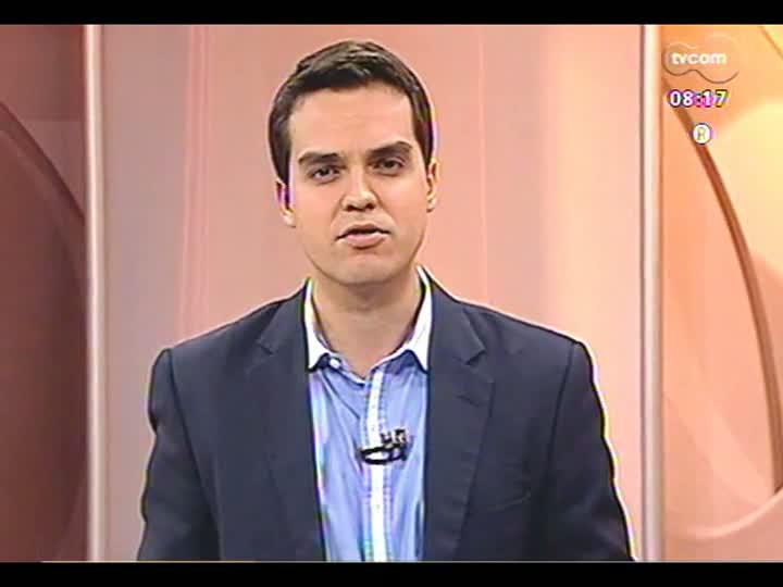 TVCOM 20 Horas - Prefeito em exercício de Porto Alegre, Sebastião Melo, fala sobre impasse com rodoviários que prejudica transporte na capital - Bloco 1 - 24/05/2013