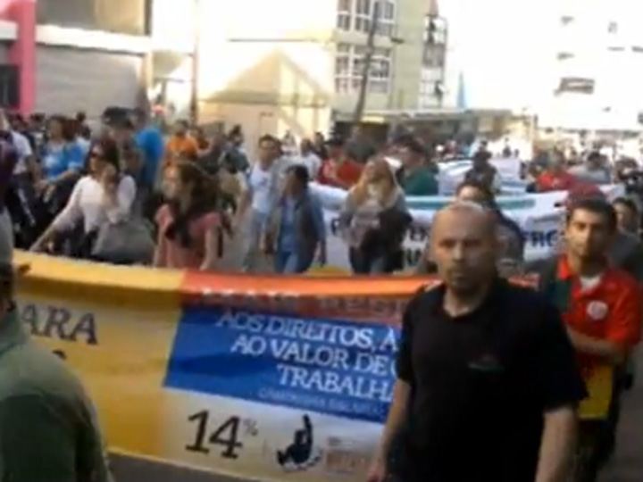 Dia de Lutas movimenta o Centro de Caxias do Sul
