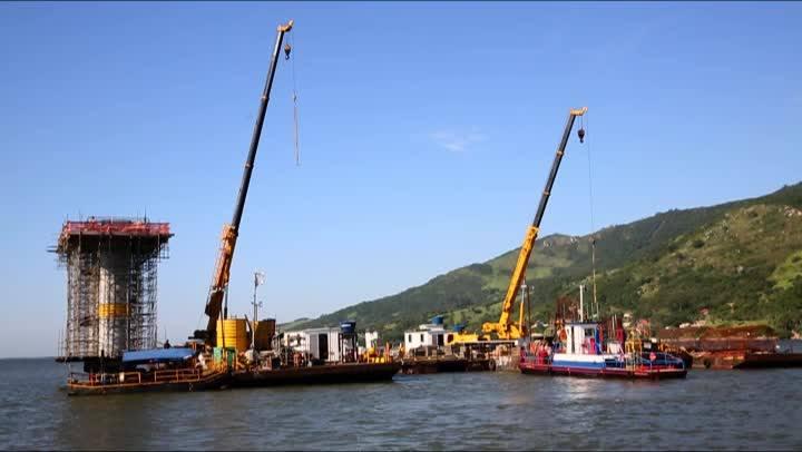 Veja como anda a construção da ponte de Laguna