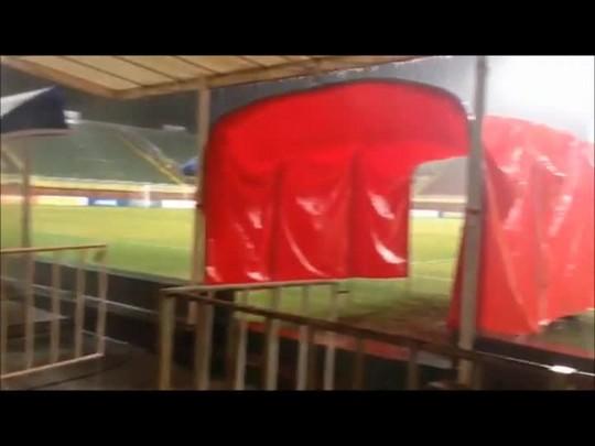 Chove na Arena antes de JEC x Figueirense