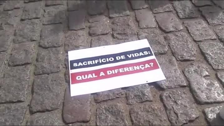 Ativistas protestam contra sacrifício de animais na capital